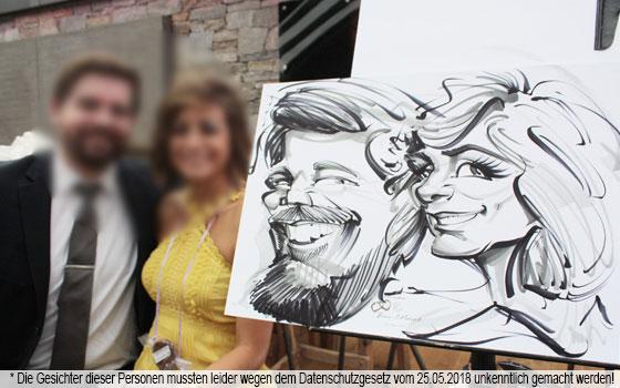 Karikaturen Zur Hochzeit Von David Müller